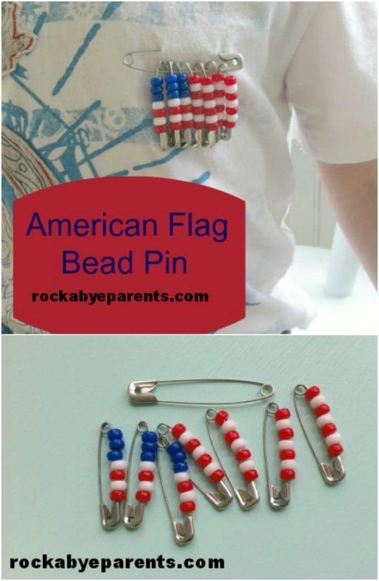 DIY American Flag Pin
