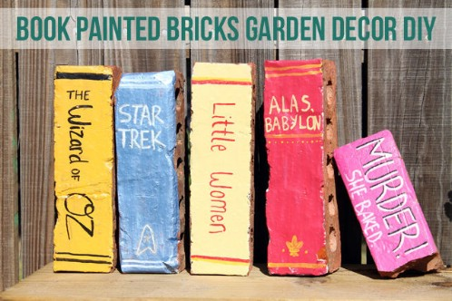 Repurposed Brick Book Decorations