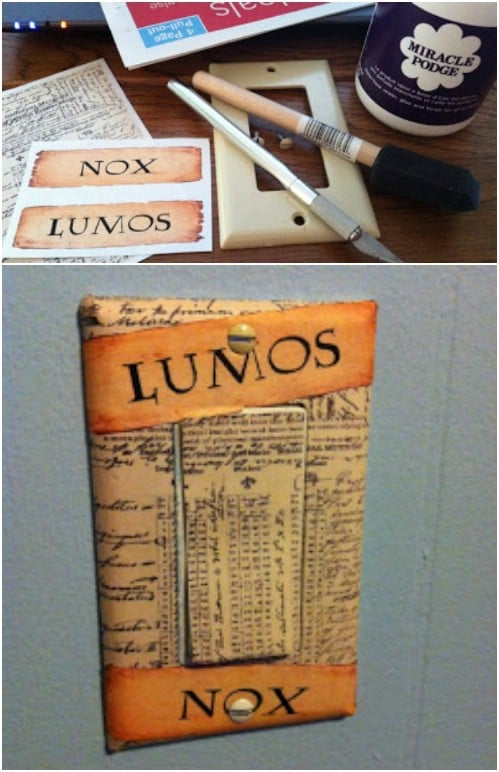 Book Lover's Light Switch Cover