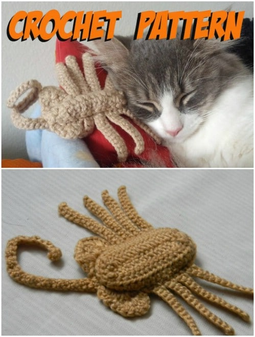 Cute Crochet Cat Alien Toy