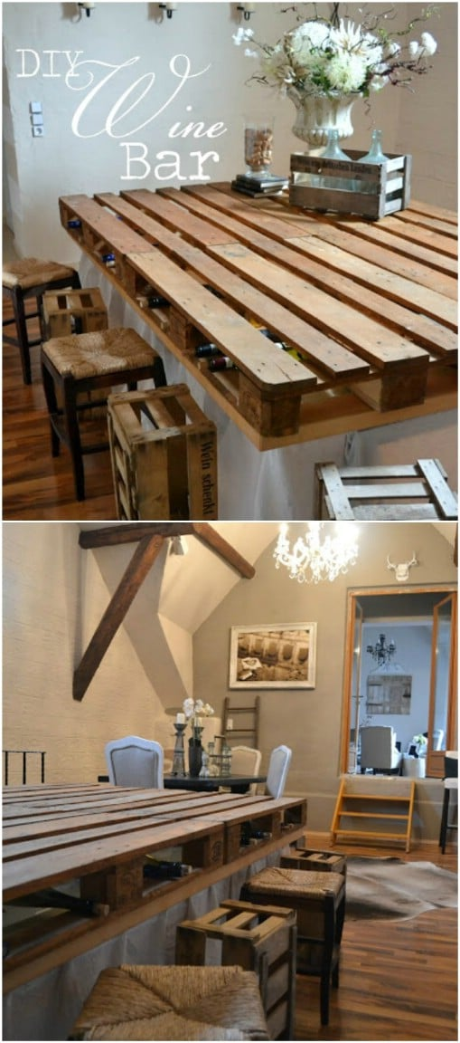 10 Brilliantly Rustic Diy Pallet Kitchen Furniture Ideas Diy Amp Crafts