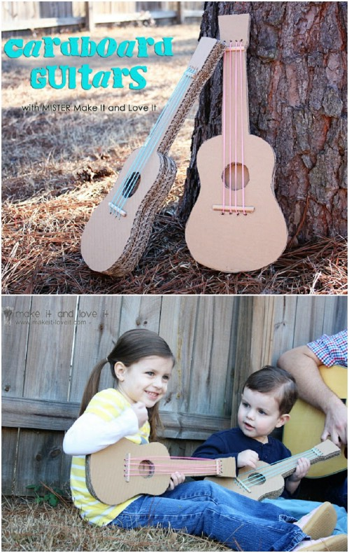 Repurposed Cardboard Guitar