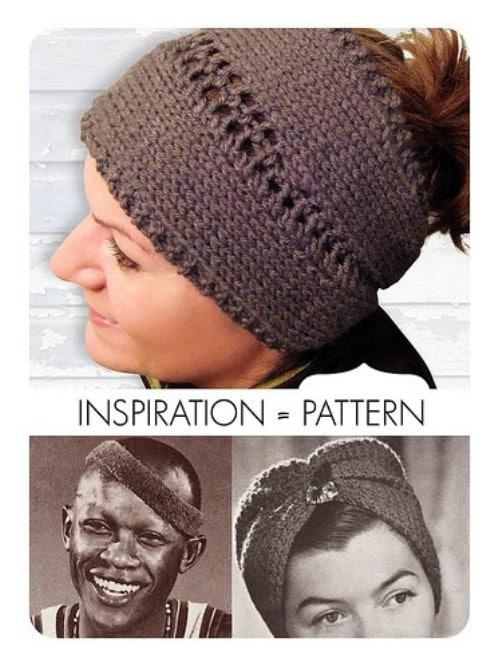 Lace Center Knit Headband