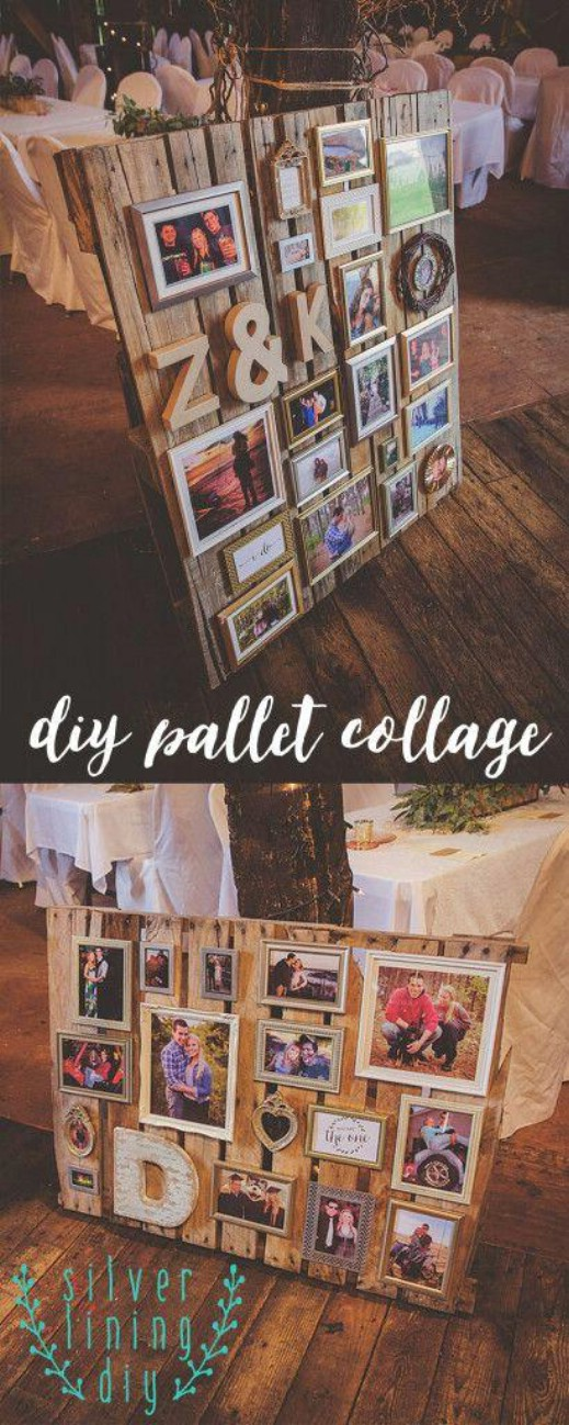 DIY Pallet Picture Collage