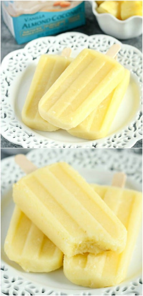 Coconut Pineapple Ice Pops