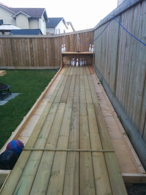 How to Build Your Own Backyard Bowling Alley