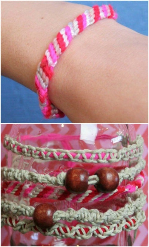 DIY Hemp Macramé Bracelet