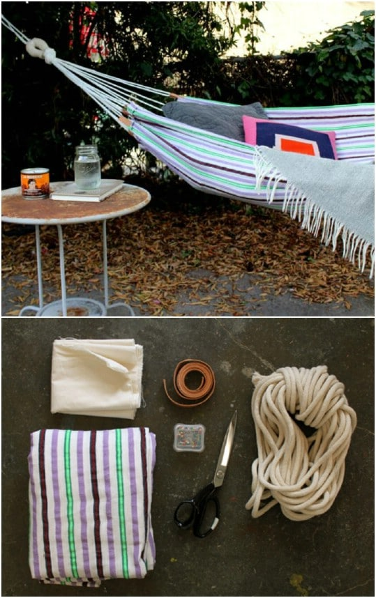Repurposed Beach Towel Hammock