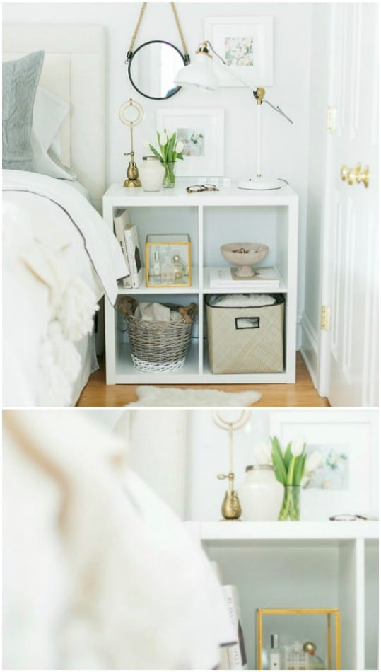 IKEA Expedit Hack Nightstand