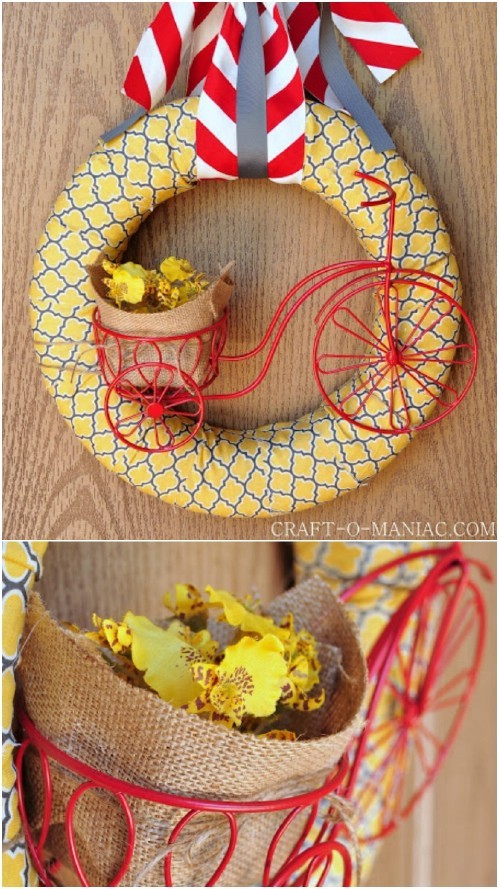 Easy Summer Bicycle Wreath