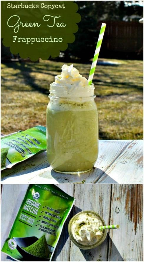 DIY Green Tea Frappuccino