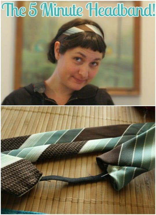 Stylish DIY Necktie Headband