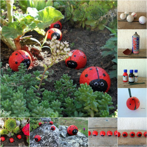 Adorable DIY Golf Ball Ladybugs