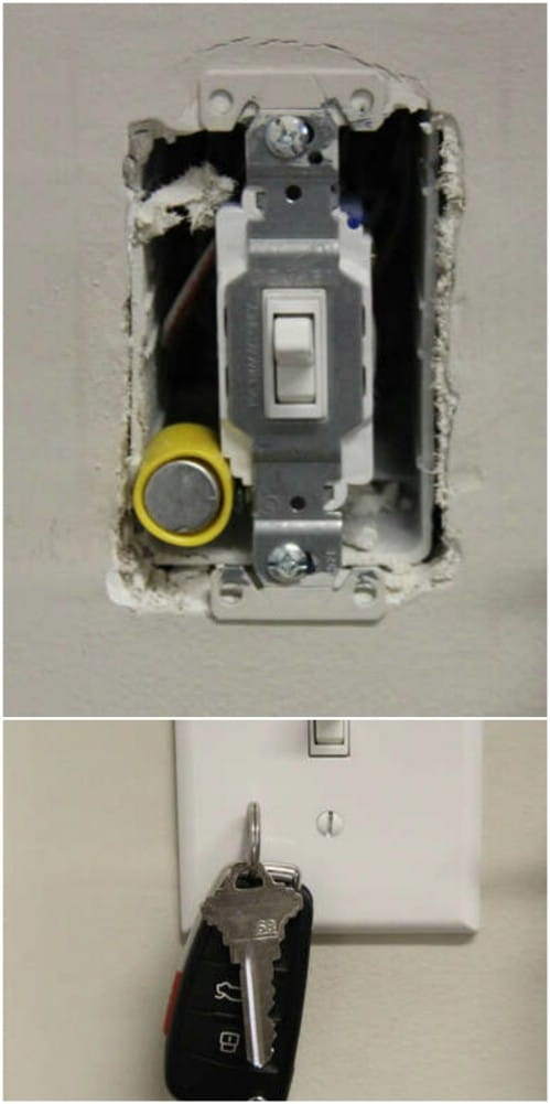 Magnetic Switch Plate Key Holder