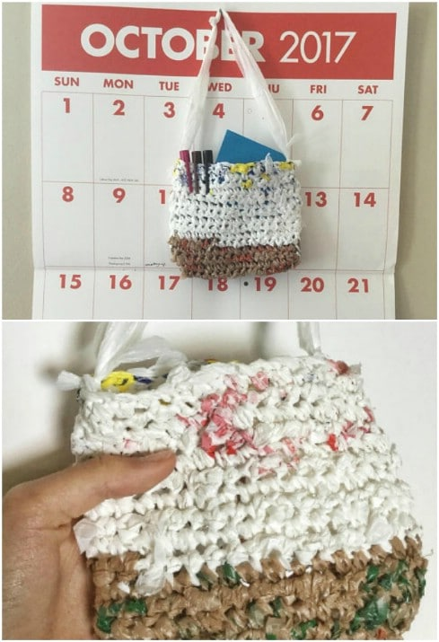 Plastic Bag Pencil Pouch