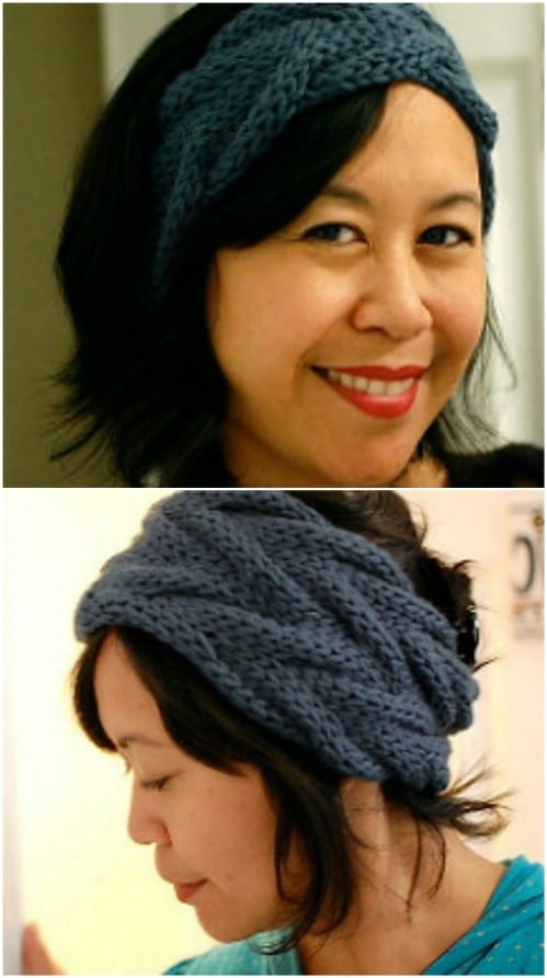 Hand Knit Head wraps Headband 2 Tone 7 Different Color