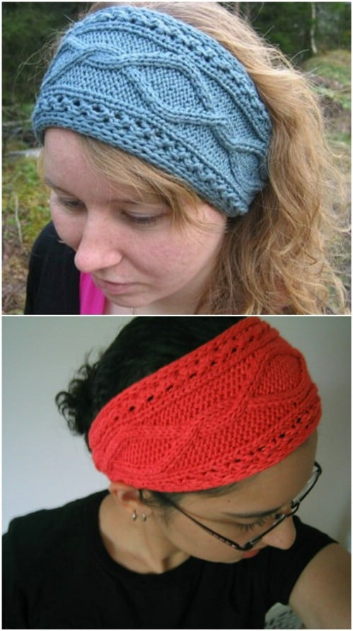 Bamboozled Cable Design Knit Headband