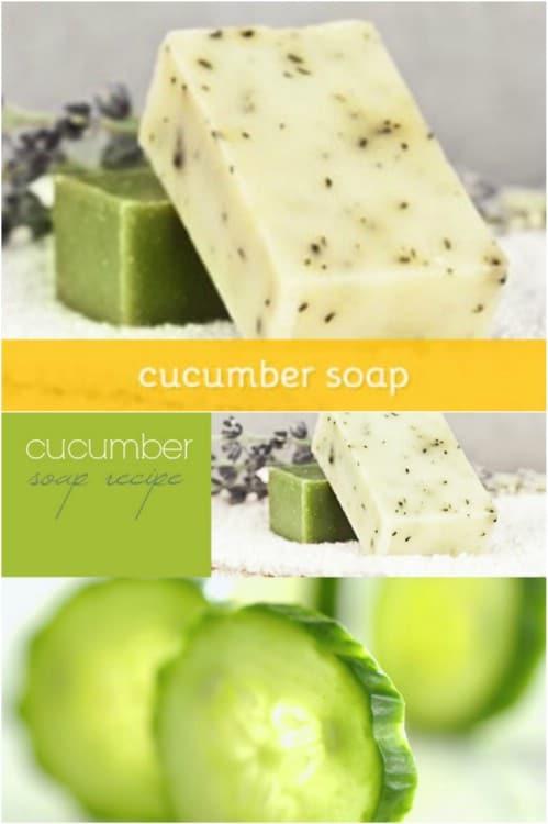 Decorative Cucumber Bar Soap