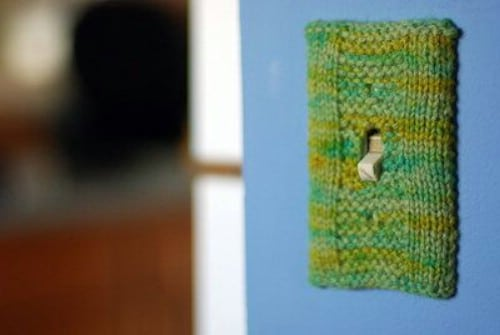 DIY Knit Switch Plate Cover