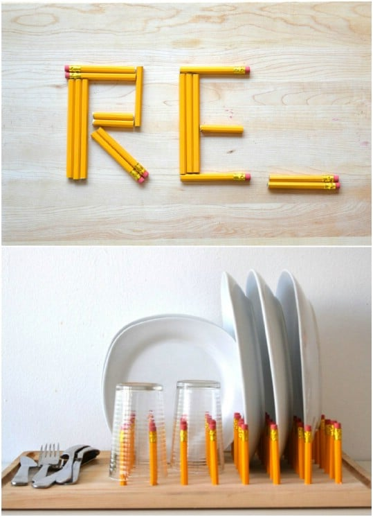 Short Pencil Dish Rack