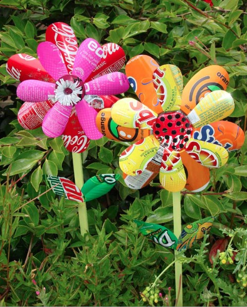 Upcycled Soda Can Flowers