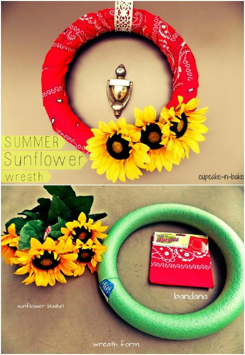 Easy Summer Daisy Wreath