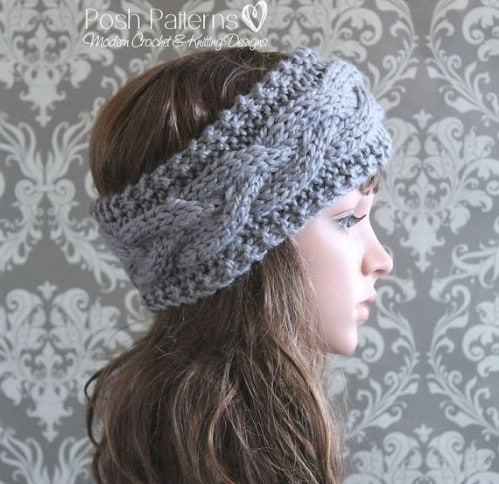 32 Easy And Stylish Knit And Crochet Headband Patterns