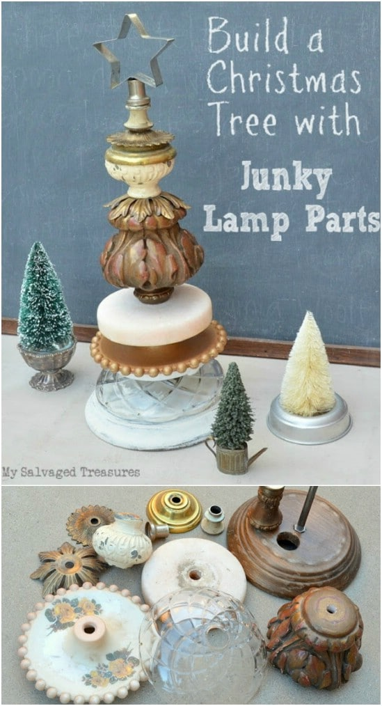 Unique Junky Lamp Base Christmas Trees