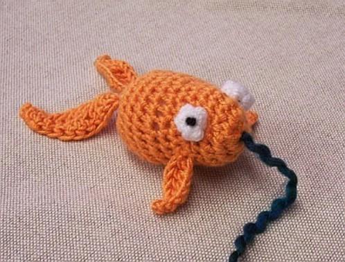 Cute Crochet Goldfish Toy