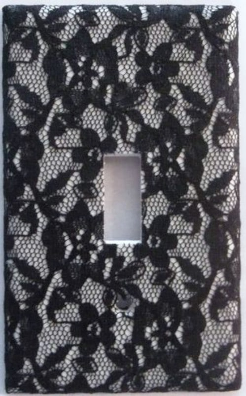 Lace Covered Switch Plate Cover