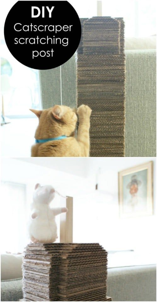 Cardboard Cat Scratching Post