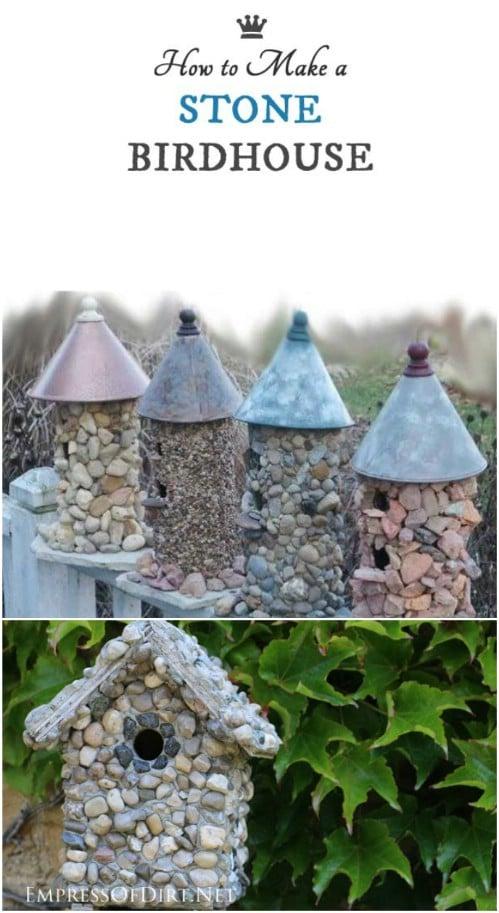 Stone Garden Birdhouse