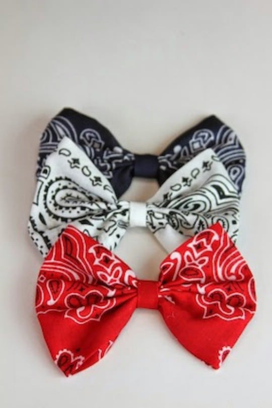 Easy DIY No Sew Fabric Hair Bows