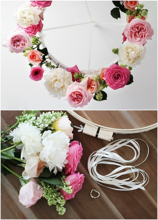 Easy DIY Flower Chandelier
