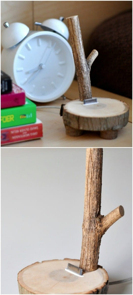 Upcycled Tree Branch iPod Dock