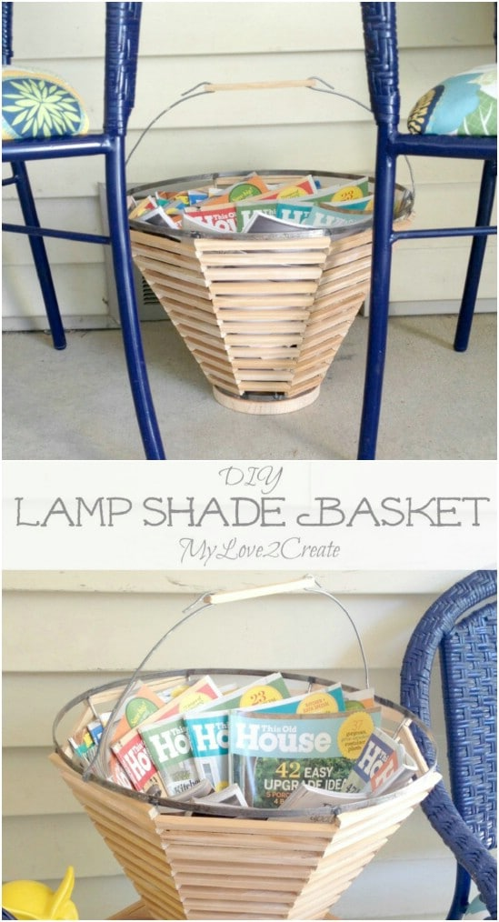 Upcycled Lampshade Basket