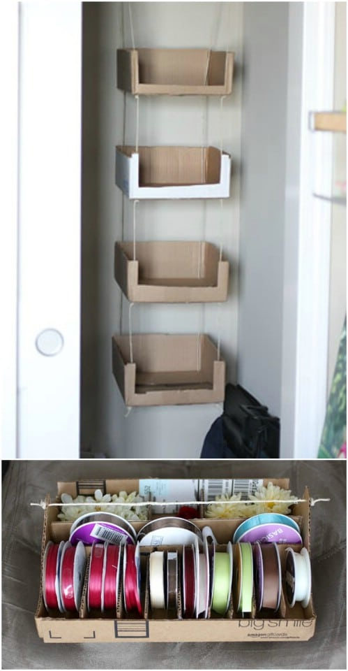 Recycled Cardboard Craft Storage