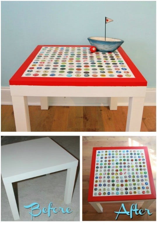 DIY Cheap And Easy Bottle Cap Table