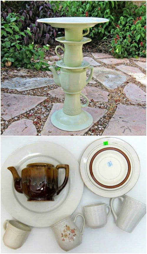 Mad Hatter Bird Bath