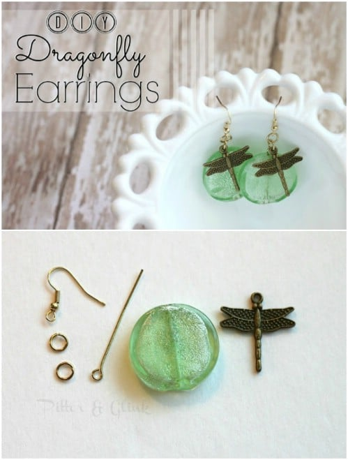 Repurposed Dragonfly Earrings