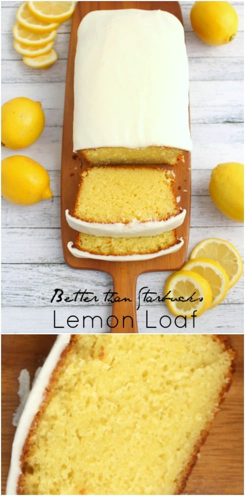 Better Than Starbucks Iced Lemon Loaf