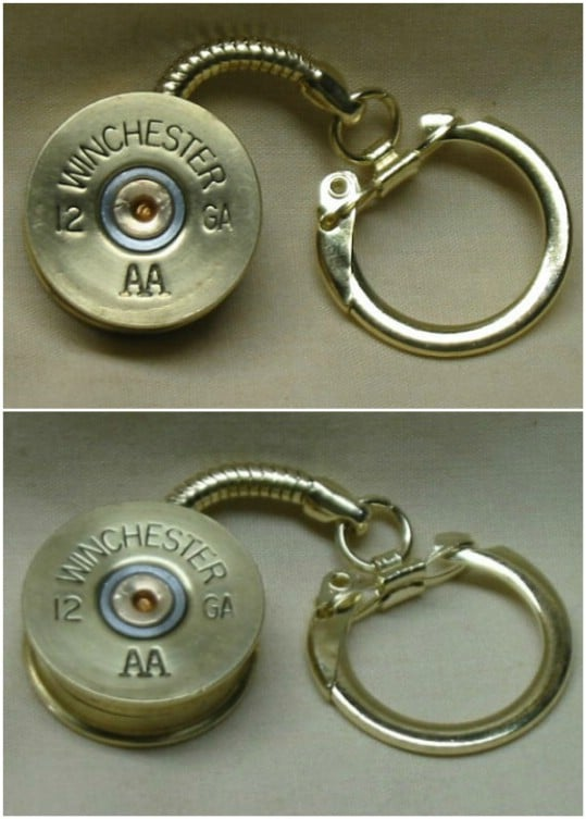 Repurposed Shotgun Shell Keychain