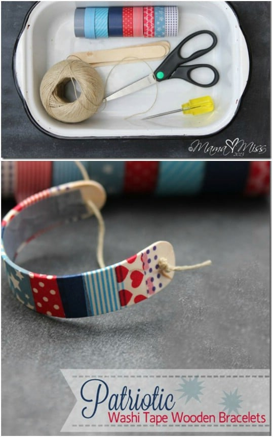 Patriotic Washi Tape Bracelet