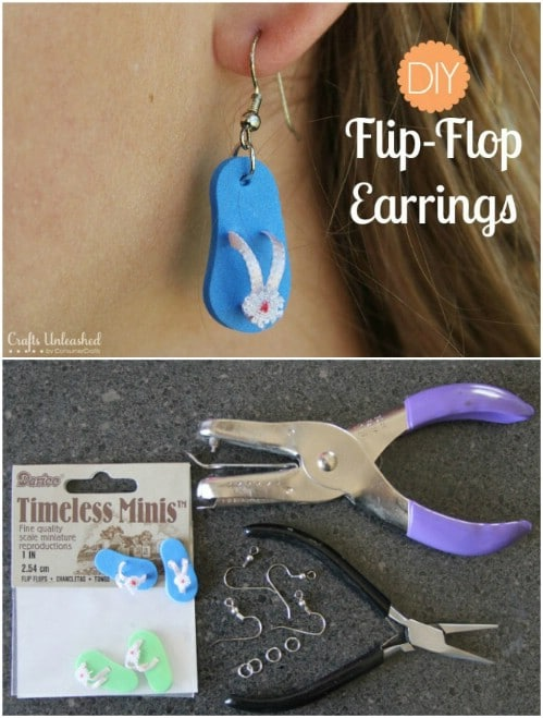 Easy Five Minute Flip Flop Earrings