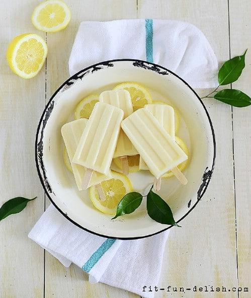 Luscious Dulce De Leche Lemon Popsicles