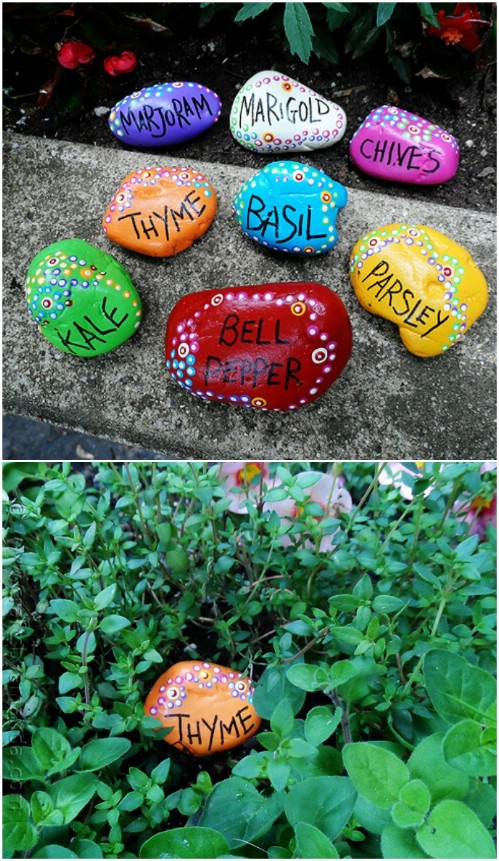 Hand Painted Rock Garden Markers