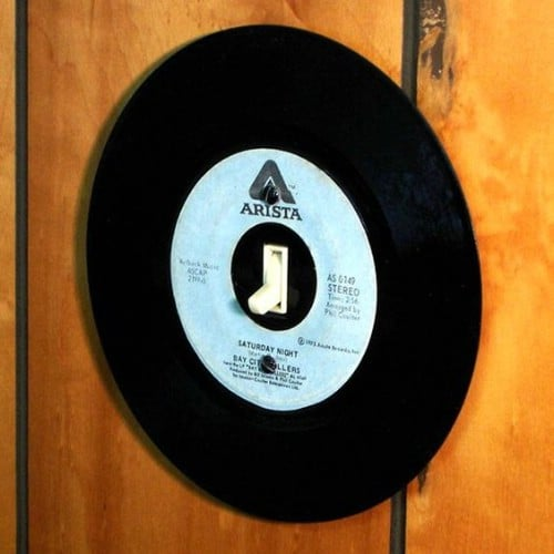 Music Inspired Record Light Switch Cover
