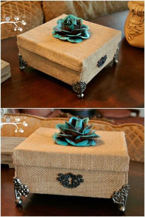 Decorative Recycled Cardboard Box
