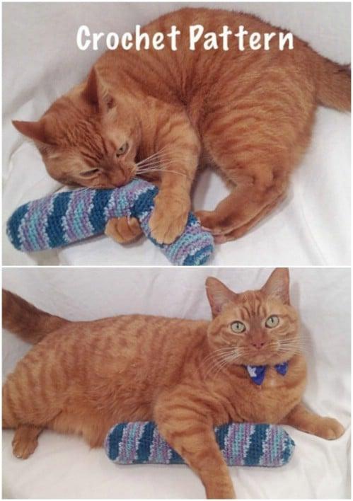 Easy Crochet Catnip Stick