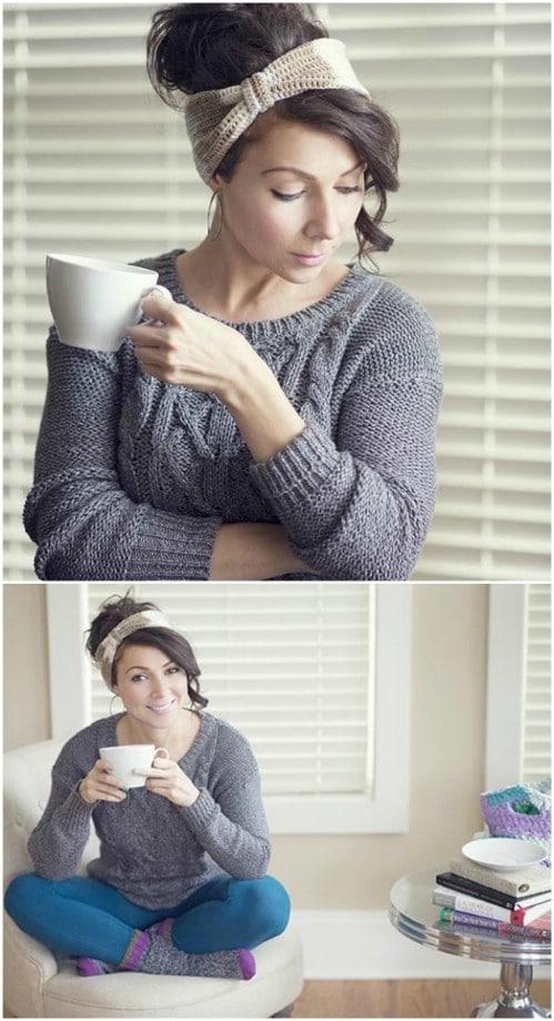 Gorgeous Crochet Latte Headband